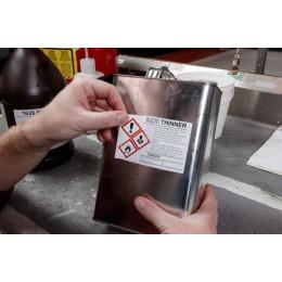 Brady CLP / GHS Vinyl-Etiketten B-7569 vorbedruckt für BBP30, 31, 33, 35, 37, S3100